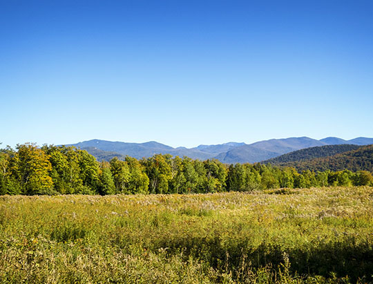Adirondack Mountains: High Peaks from the Old Orchard Loop at Heaven Hill (23 September 2015)