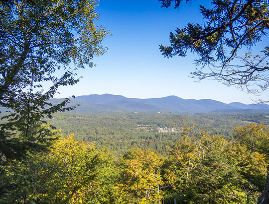 View from the outlook on the Henry's Woods Rocky Knob Trail (16 September 2015)